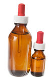 Bottles of Massage Oil Royalty Free Stock Images