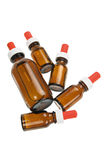Bottles of Massage Oil Stock Images