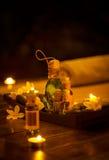 Bottles of massage oil Stock Photo