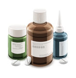 Bottles with medical drugs and pills Stock Photography