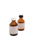 Bottles of medicine. Bottles on a white background Royalty Free Stock Photos