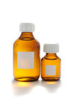 Bottles of Medicine with Blank Labels Royalty Free Stock Photo
