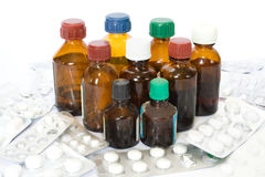 bottles medicinen Royaltyfri Fotografi