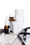 bottles medicinska pills Royaltyfri Foto