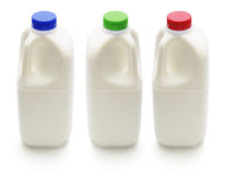 Bottles of Milk Royalty Free Stock Images