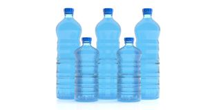 Bottles of mineral water. 3d illustration Royalty Free Stock Image