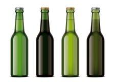 Bottles mockup for beverages Stock Image