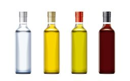 Bottles mockups for oil and other foods royalty free stock photo
