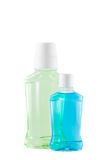 Bottles with  mouthwash Royalty Free Stock Image