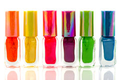 Bottles nail polish Royalty Free Stock Images
