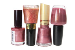 Bottles of Nail Polish Royalty Free Stock Image