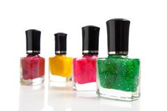 Bottles of nail polish Stock Photo