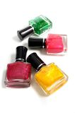 Bottles of nail polish Royalty Free Stock Photos