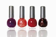 Bottles of nail polish Stock Photos