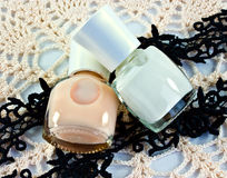 Bottles of nail polish Royalty Free Stock Images