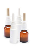 Bottles of Nasal Spray Royalty Free Stock Image