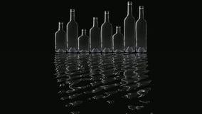 Bottles stock video