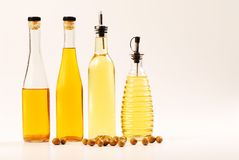 Bottles Of Oil Royalty Free Stock Images