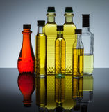 Bottles of oil Royalty Free Stock Photography