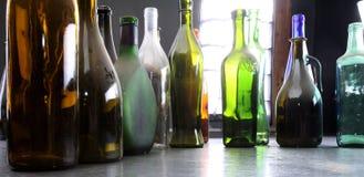 2 bottles old Arkivfoto