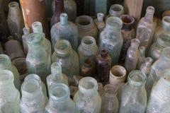 2 bottles old Arkivfoton