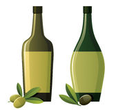 Bottles with olive oil Stock Photo
