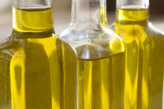 Bottles of olive oil Stock Photos