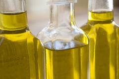 Bottles of olive oil Royalty Free Stock Images