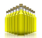 Bottles with olive oil Royalty Free Stock Photography