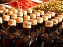 Bottles of olive oil Stock Images