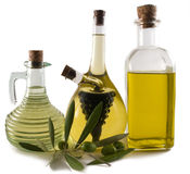Bottles of olive oil/vinegar Royalty Free Stock Image