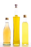 Bottles of olive oil and wine vinegar Stock Image