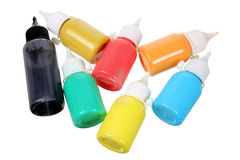 Bottles of Paint Stock Photography