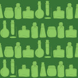 Bottles paper. Vector seamless pattern with hand drawn bottles. Great for drugstore, beauty salon or cafe stationery design Royalty Free Illustration