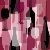 Bottles pattern Stock Images