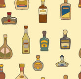 Bottles pattern Royalty Free Stock Photography