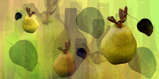 Bottles and pears pattern. Abstract bottles  and pears pattern Royalty Free Stock Photography