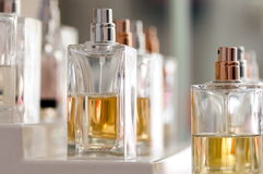 Bottles of perfume. A set of bottles of perfume Royalty Free Stock Photography