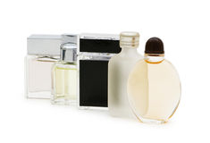 Bottles of perfume isolated Royalty Free Stock Photography