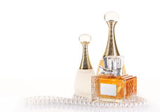 Bottles of perfume Royalty Free Stock Photo