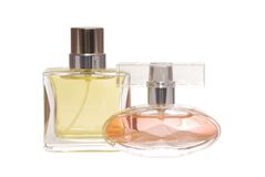 Bottles of perfume Stock Image