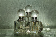 Bottles for perfumery Royalty Free Stock Image