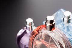 Bottles of perfumes Stock Photography