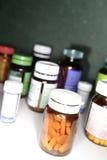 Bottles of pills Stock Photo