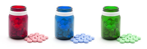 Bottles of Pills Royalty Free Stock Image