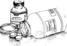 Bottles of pills Royalty Free Stock Photos