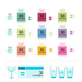 Bottles with pills for your design Stock Images