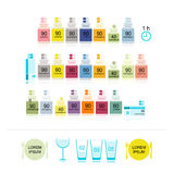Bottles with pills for your design Royalty Free Stock Photo
