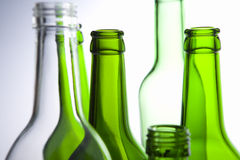 Bottles placed in a line Stock Photos