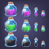 Bottles of potion. Royalty Free Stock Photography